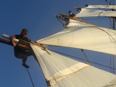 Anheuern auf dem segelnden Öko-Frachter