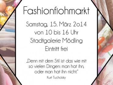 5. Mödlinger Fashionflohmarkt am 15. März 2014