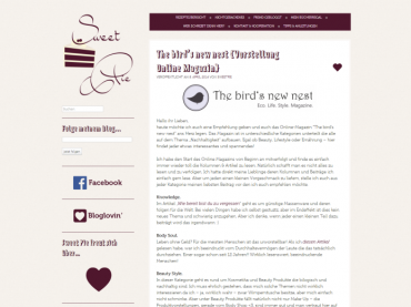 Review The bird's new nest: Januar 2014