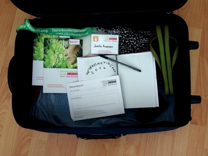 Einmal NaturkosmetikCamp 2014 hin und zurück – Mein Koffer voller Thesen