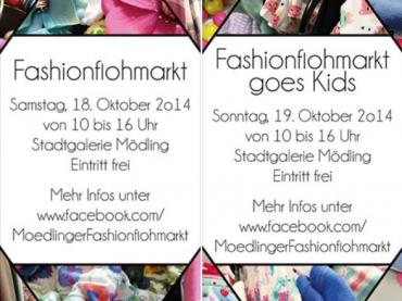 6. Mödlinger Fashionflohmarkt und 1. Kids-Fashionflohmarkt am 18. und 19. Oktober 2014