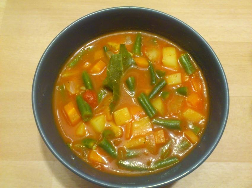 Veganer Fisolen-Eintopf (Grüne Bohnen)