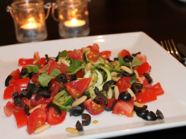 Warmer Zucchinisalat (vegan)