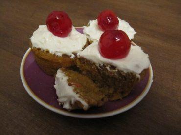 Kürbiscupcakes mit Zitronentopping