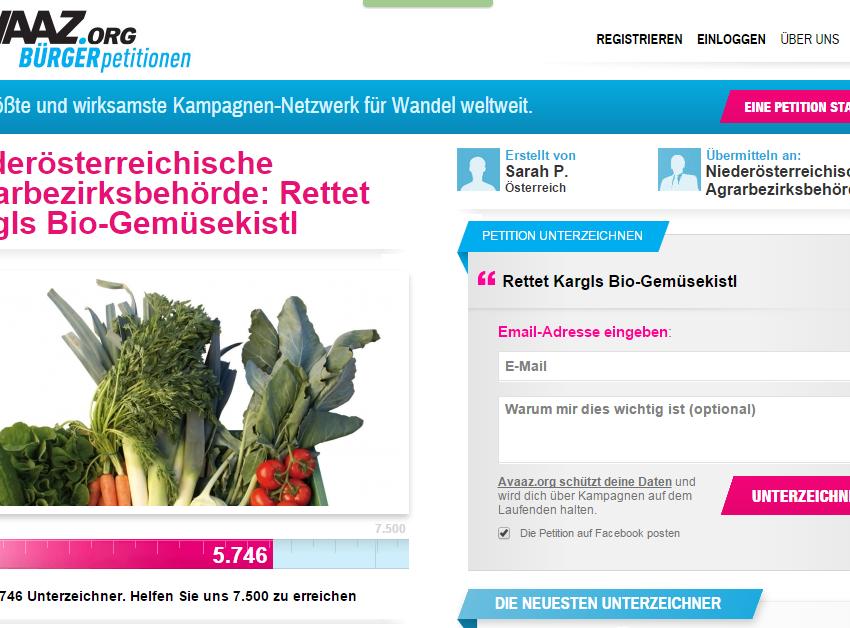 Rettet den Biobauern: Jetzt Petition unterschreiben!