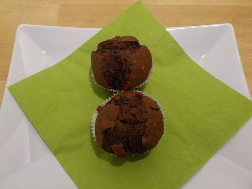 Vegane Schoko-Walnuss-Muffins