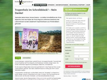 Petition: Tropenholz im Schreibblock? Nein Danke!