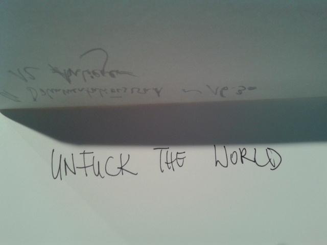 Unfuck the world? Unfuck the world!  (Un)konferenz zu Nachhaltigkeit im Kulturbereich im Tanzquartier Wien