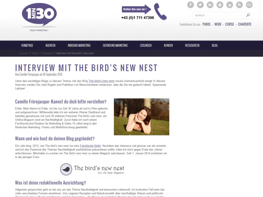 Unsere neuen Projekte – Interview mit 1min30