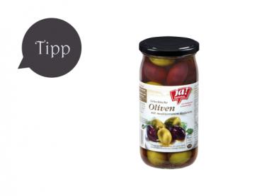 Griechische Oliven mit mediterranen Kräutern von Ja! Natürlich
