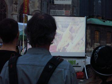 We need you! Filmvorführungen zu Massentierhaltung am Stephansplatz