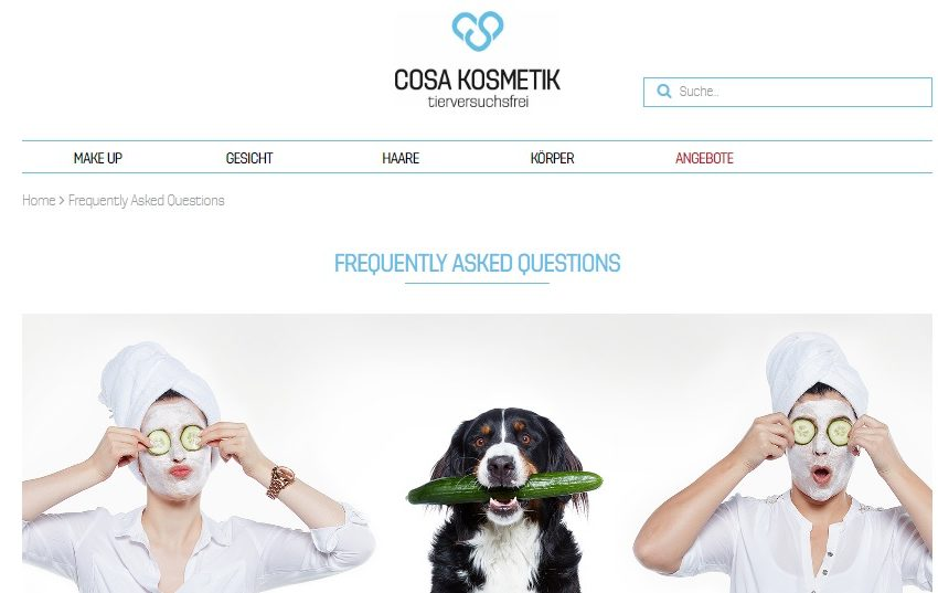 Cosa Kosmetik – Online-Shop für tierversuchsfreie Kosmetik