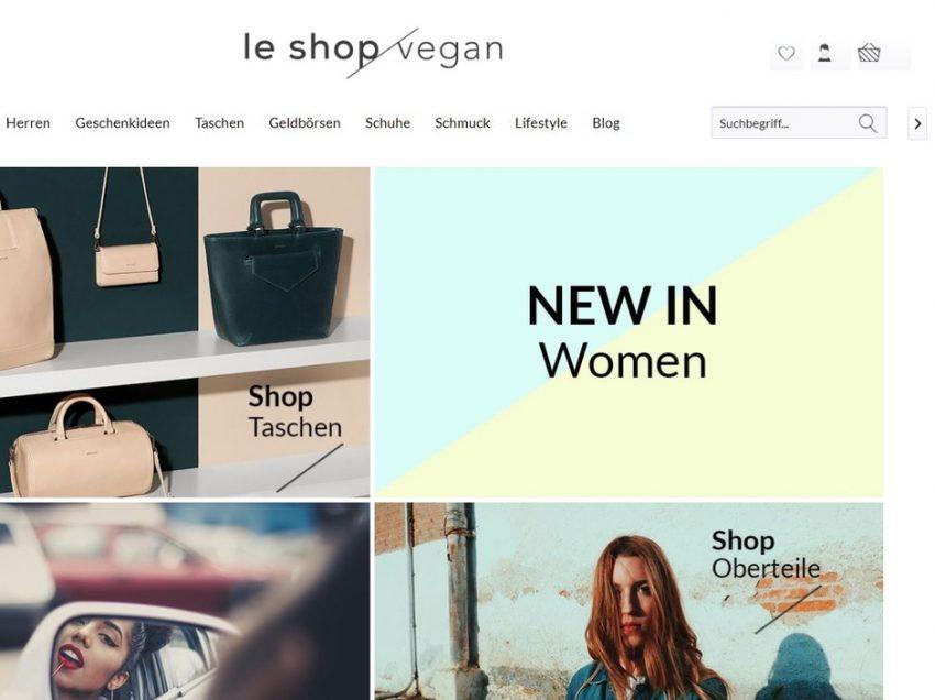 Le Shop Vegan – Riesige Auswahl an veganen Taschen und Fair Fashion