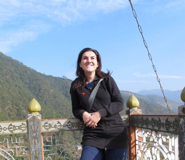 Mein breites Grinsen hat damit zu tun, dass ich in Bhutan ein Stück Glück gefunden habe. Foto: Estelle