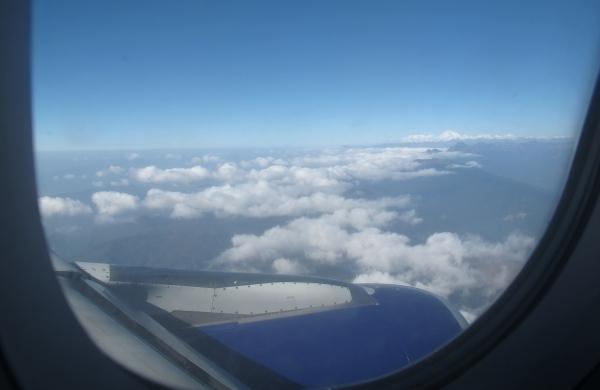 Im Landeanflug am besten auf der rechten Seite sitzen. Foto: Doris