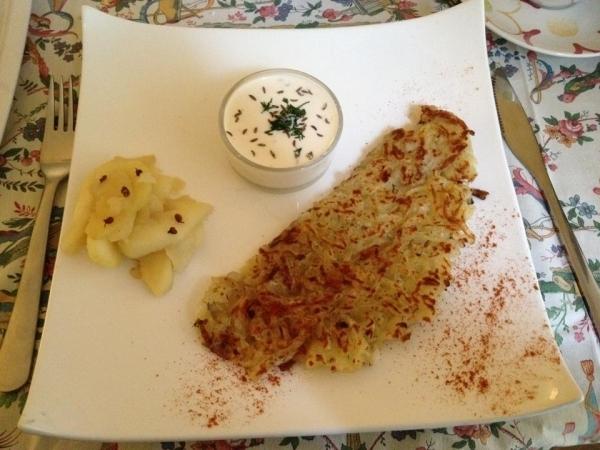 Kartoffelpfannkuchen. Foto: Linda Sabin