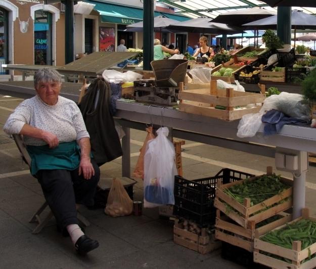 Der Markt von Rovinj ist einer der teuersten in Kroatien.Foto: Doris