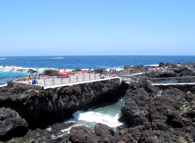 Lavapools gibt es viele auf Teneriffa. Nicht alle sind so groß und schön wie die bei Garachica. Foto: Doris
