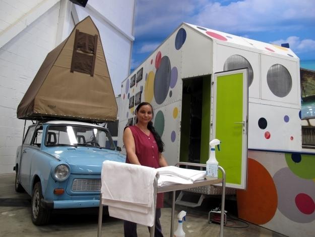 Eine Putzfrau auf dem Campingplatz? Das BaseCamp ist eben anders. Foto: Doris