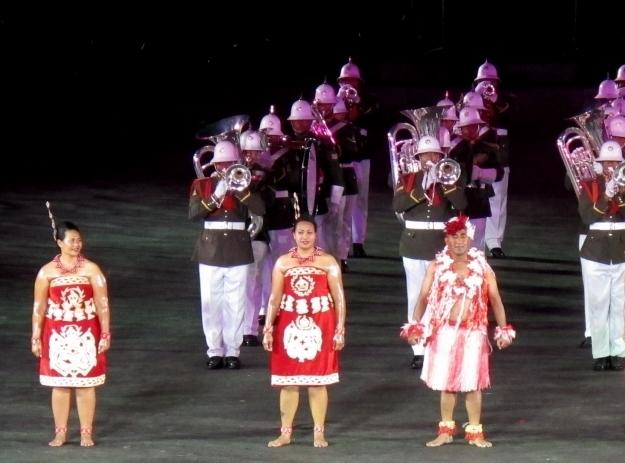 Das Königreich Tonga ist ebenfalls mit einer Performance vertreten. Foto: Doris