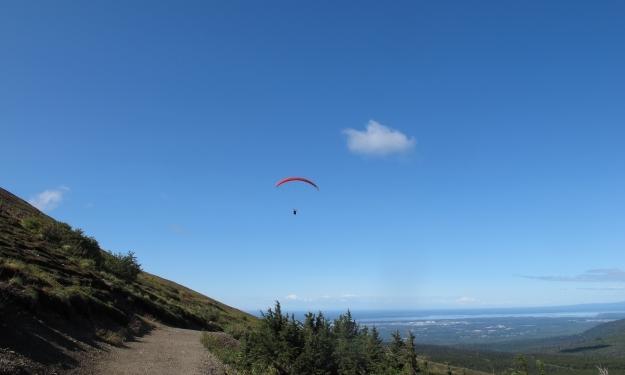 Strahlend blauer Himmel an meinem ersten Tag in Alaska. Foto: Doris