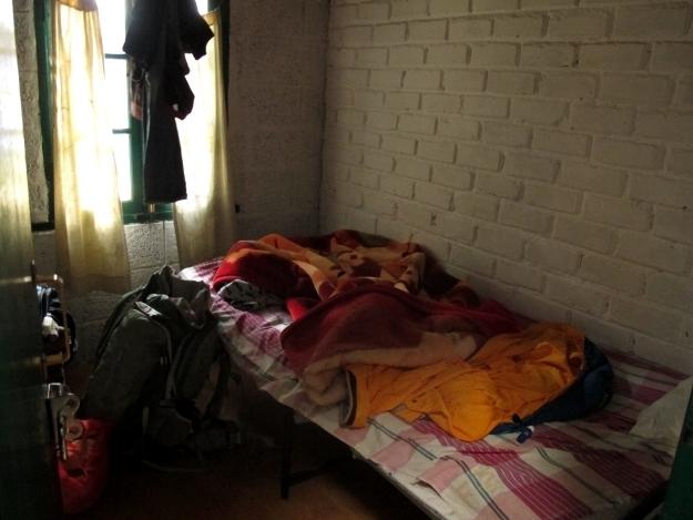 Luxus sieht anders aus, Wohlfühlen eigentlich auch: Meine Kammer für 10 Tage. Foto. Doris