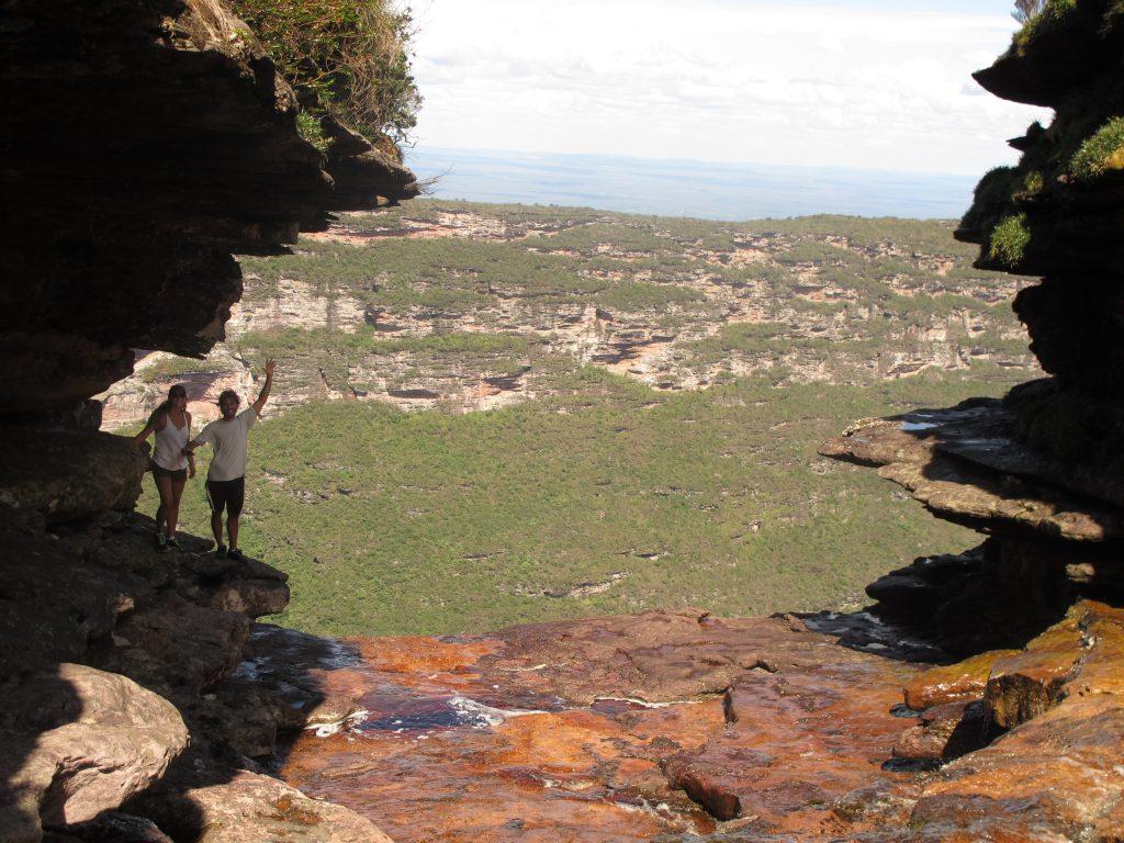 Wandergefährten beim Wasserfall Fumaca. Foto: Doris